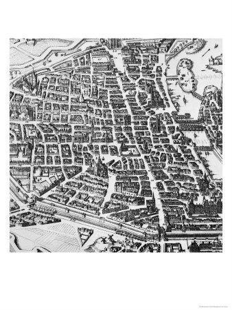 Map of Paris, 1620