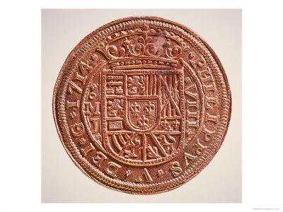 Spanish Gold Doubloon, Looted by Pirates, 1714