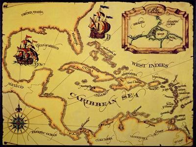Map of the Spanish Main