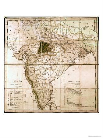 Map of India, 1803