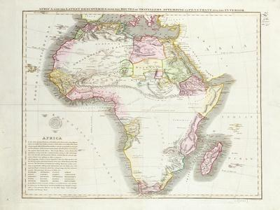 Map of Africa, 1821