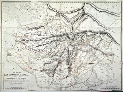 Map of the Kingdom of Kabul