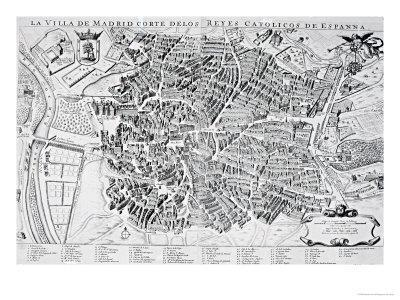 Map of Madrid