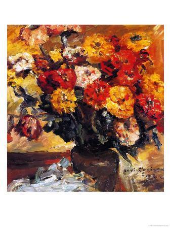 Zinnias in a Vase, 1924