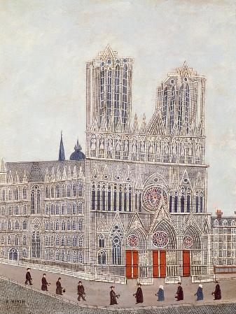 Rheims Cathedral, c.1923