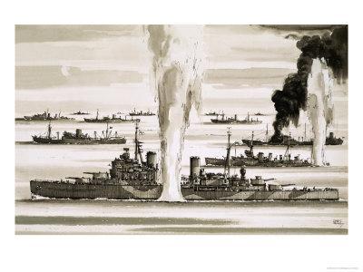 The British Fleet Sailing to Malta During the Second World War