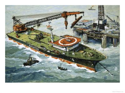 The Galatea, Fitted with a Heavy Lifting Crane