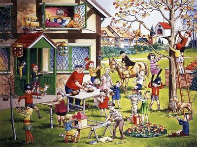 Garden Scene with Children