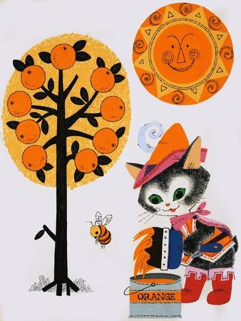 Cat Painting the World Orange