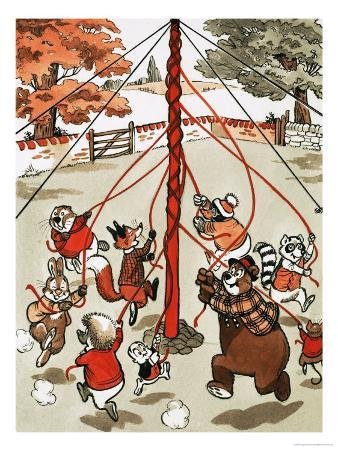 Animals Around May Pole