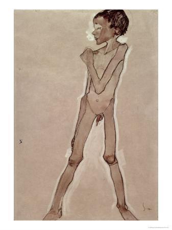 Nude Boy Standing