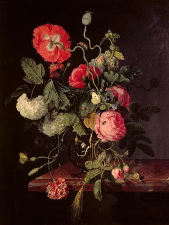 Flowers in a Glass Vase, 1667