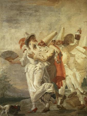 Pulcinella in Love, c.1793
