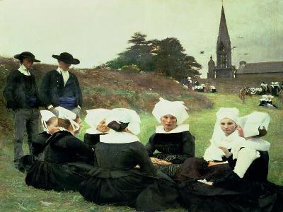 Breton Women Sitting at a Pardon