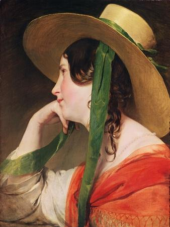 Girl in a Yellow Straw Hat