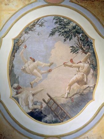 Pulcinella on a Swing, 1797