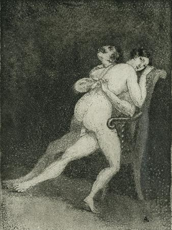 Erotic Couple on a Chair, c.1880