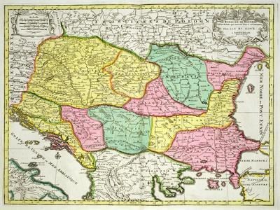 Map of the Kingdom of Hungary and States United to Its Crown, Pub. by J.B.Elwe, Amsterdam, 1742