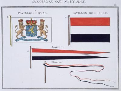 Flags from the Kingdom of the Netherlands, from a French Book of Flags, c.1819