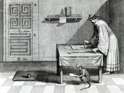 Chinese Scribe, from China Illustrated by Athanasius Kircher