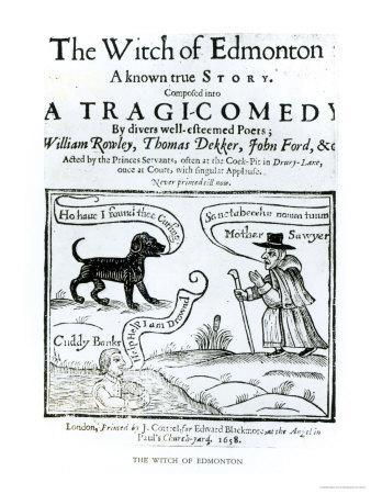 """Frontispiece to """"The Witch of Edmonton, a Known True Story, 1658"""
