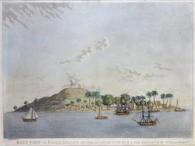 East View of Poolo Chinco, Coast of Sumatra, the Residence of W. Grant Esq., Engraved Moffat, 1802