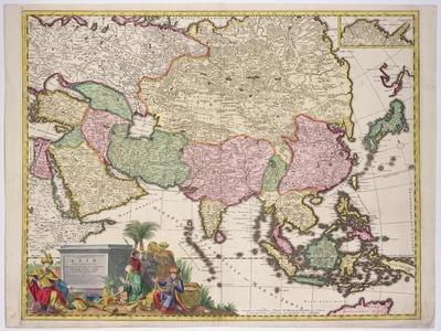 Map of Asia, Tartaria, Japan, the Philippines and East Indies, Engraved G. Van Gouwen, c.1690