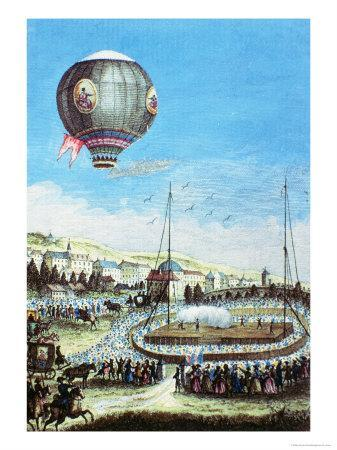 Brolteaux in Lyon and the Third Flight of the Montgolfier Hot-Air Balloon, 10th of January 1784