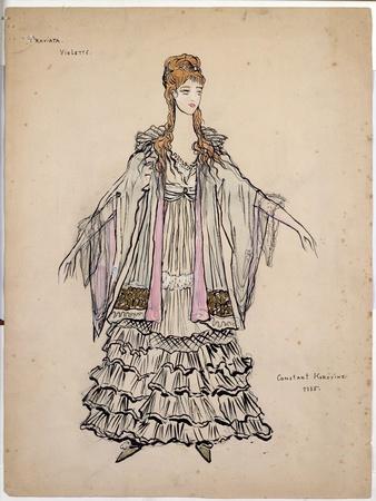 Costume For Violette in La Traviata, 1935
