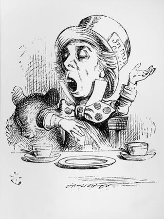 The Mad Hatter, Illustration from Alice's Adventures in Wonderland, by Lewis Carroll, 1865