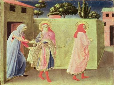 The Healing of Palladia by Ss. Cosmas and Damian, Predella from the Annalena Altarpiece, 1434