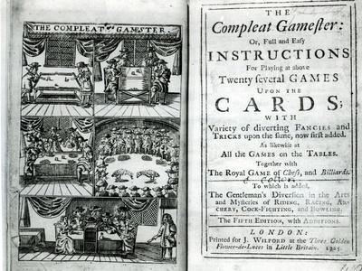 Title Page of the Fifth Edition of The Compleat Gamester, Attributed to Charles Cotton