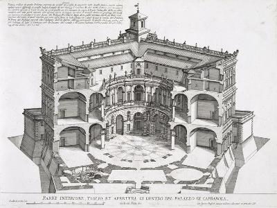 Cross-Section of Villa Caprarola, Bagnaia