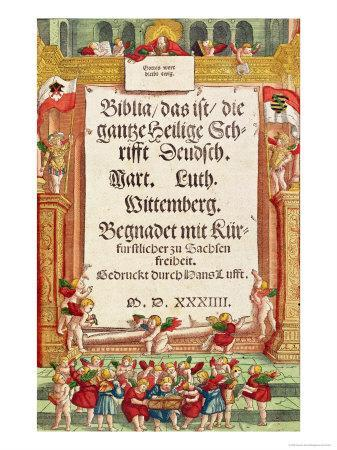 Title Page from the Luther Bible, c.1530