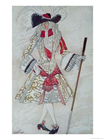 Costume Design For Prince Charming at Court, from Sleeping Beauty, 1921