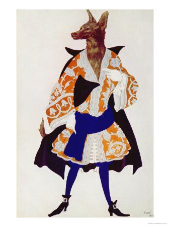 Costume Design For the Wolf, from Sleeping Beauty, 1921