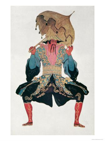 Costume Design For a Chinaman, from Sleeping Beauty, 1921