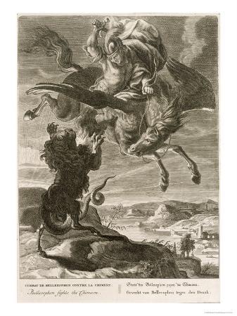 Bellerophon Fights the Chimaera, 1731