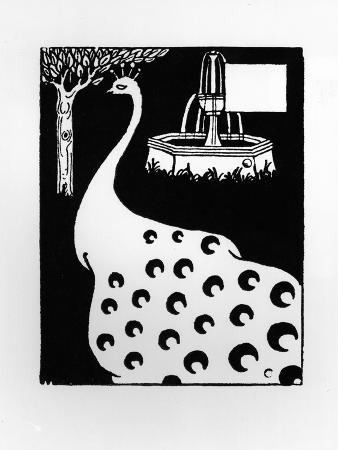 Peacock Motif, from Le Morte D'Arthur