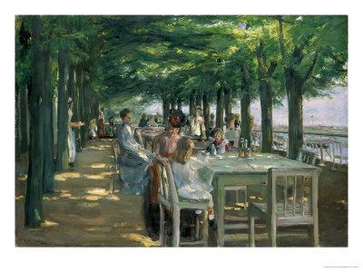 The Terrace at the Restaurant Jacob in Nienstedten on the Elbe, 1902