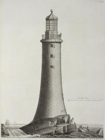 Edystone Lighthouse Engraved by Edward Rooker