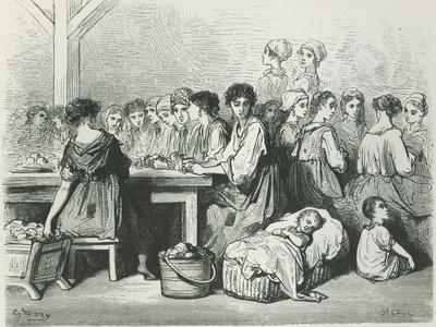 Cigar Makers at Seville, from L'Espagne by Baron Ch. Davillier, Published in Paris, 1874
