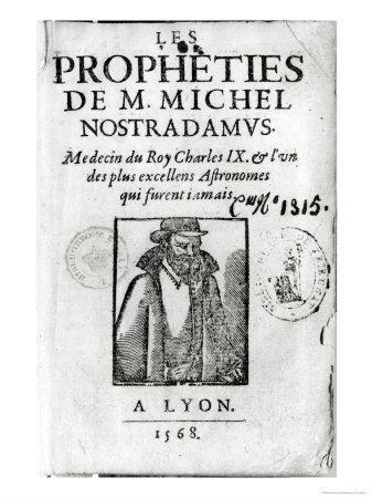 Frontispiece to Les Propheties de M. Michel de Nostradamus