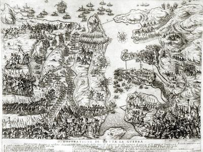 Map of the Siege of Malta in 1565