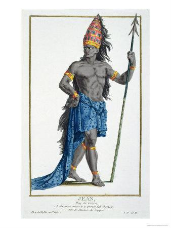 Jean, King of the Congo, Engraved by Pierre Duflos
