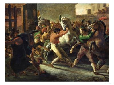 Study For the Race of the Barbarian Horses, 1817