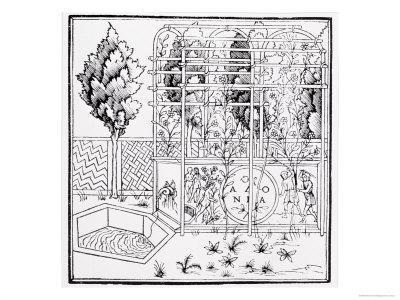 Garden Scene, from Hypnerotomachia Poliphili Attributed to Francesco Colonna