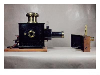 View of One of the First Cinema Projectors, Manufactured by August