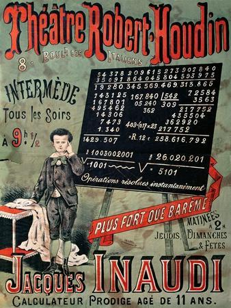 Poster Advertising an Appearance of Jacques Inaudi