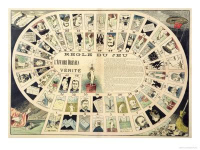 The Dreyfus Affair Game, with Portraits of the Various Individuals Involved, Late 19th Century
